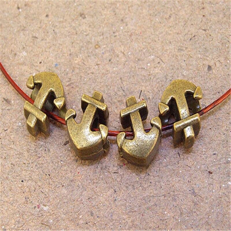 10 шт. для 5 мм кожаных анкерных бусин античная латунь 5 мм круглые кожаные фурнитура suppliesD-5-5-11