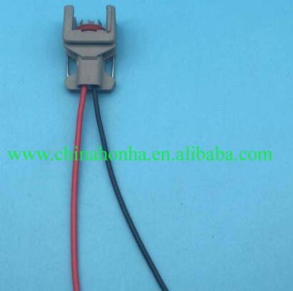 Conector impermeable de 2 pines/vías con cola de cerdo, inyector de combustible diésel, enchufe de carril de combustible para Delphi 10811963, envío gratuito