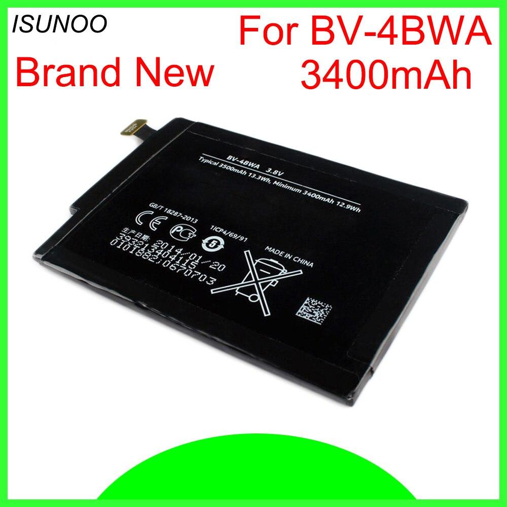 ISUNOO 3400 mah/13.3Wh BV-4BWA/BV 4BWA/BV4BWA Li-Polímero Bateria de Substituição Para Nokia Lumia 1320 batterie Bateria Batterij