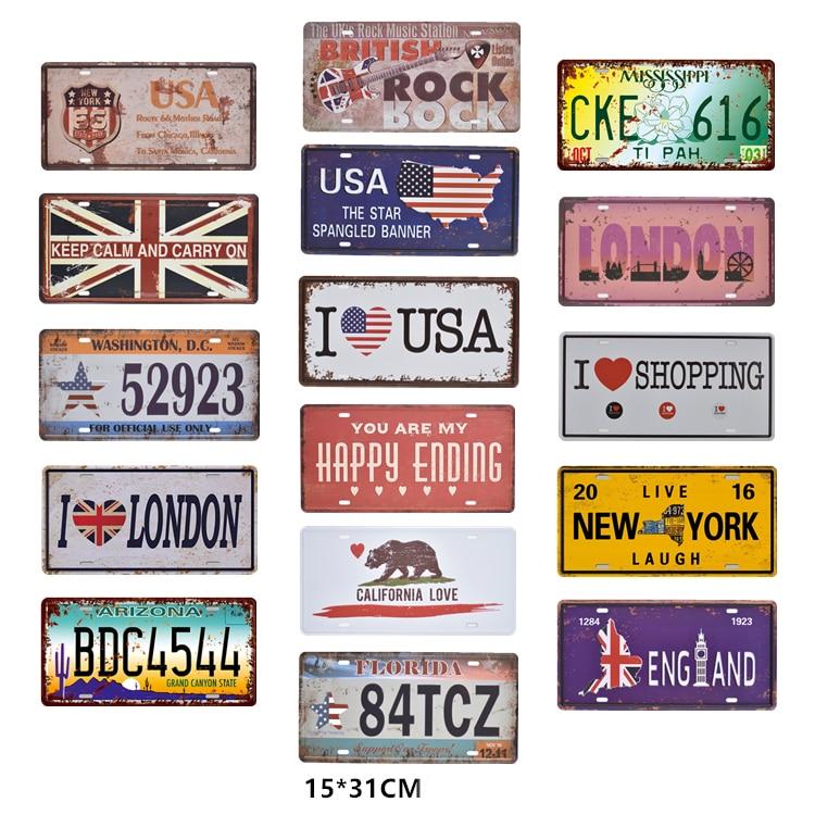 Stany zjednoczone dekoracyjne prawo jazdy metalowa płyta w stylu Vintage Home Decor plakietka emaliowana Bar samochodów garaż, ale nie gwarantujemy poprawności wszystkich danych. metalowe tabliczki metalowe sztuki malowanie tablice