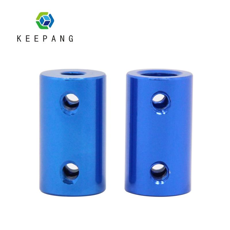 Blau Flexible Welle Koppler Aluminium Legierung Kupplung Bohrung 5mm 8mm 3D Drucker Teile Flexible Welle Koppler Schraube Für stepper Motor