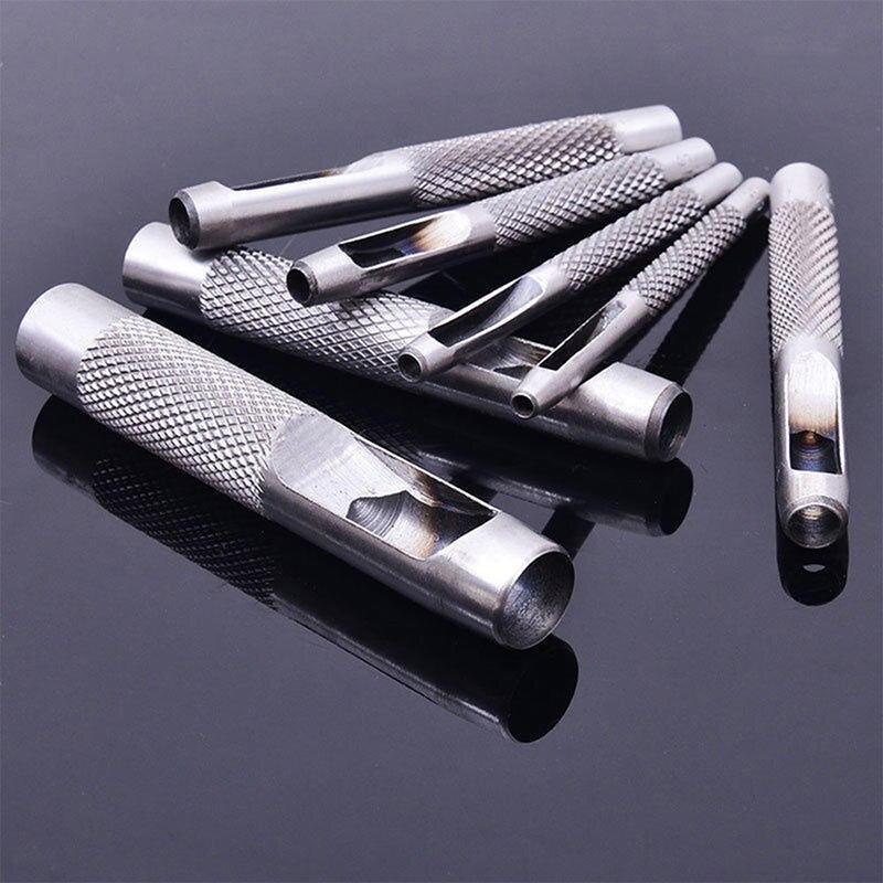 5 herramientas de cuero para elegir, punzón de cuero, artesanía, agujero, juego de punzón hueco, perforadora para cinturón, 3,0mm-7mm para lona de ropa