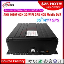 Bron fabriek HD 6 kanaals remote monitoring AHD 720 P megapixel 3G GPS WIFI mobiele DVR harvester/beton truck/tanker