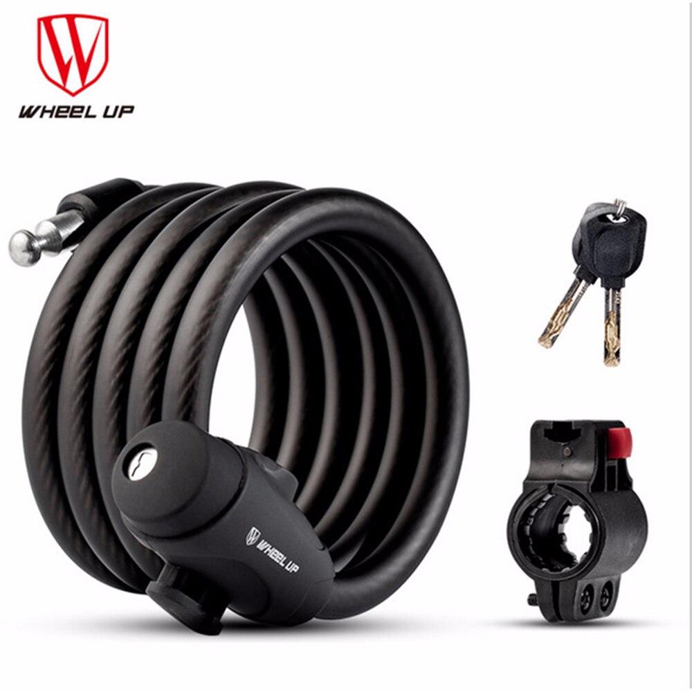 Rueda arriba 1,2 m 1,5 m 1,8 m bicicleta antirrobo bloquear el cable de acero seguro bicicleta bloqueo calidad MTB bicicleta de carretera bloqueo
