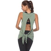 Esporte feminino camisa superior da mulher camiseta colheita superior yoga ginásio fitness esporte sem mangas colete singlet correndo roupas de treinamento para o womem