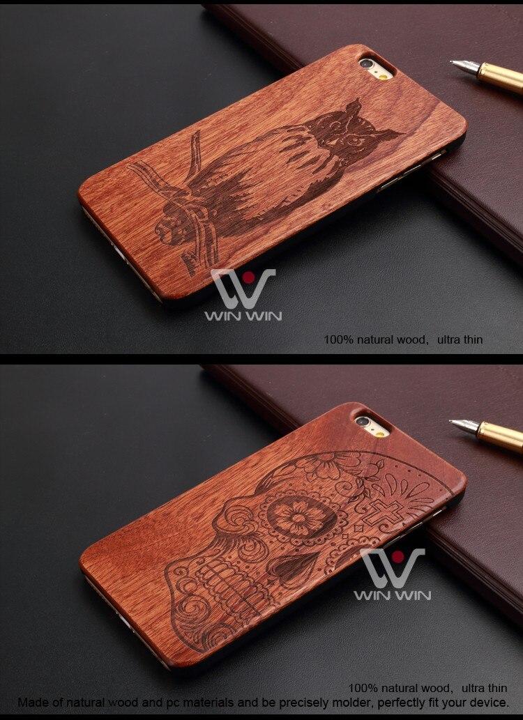 U & i marka cienki luksusowe natural wood telefon case for iphone 5 5s 6 6 s 6 plus 6 s plus 7 7 plus pokrywa drewniane wysokiej jakości, odporna na wstrząsy 12