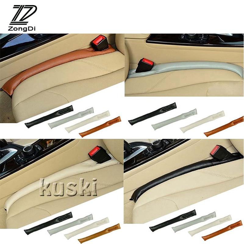 Coche ZD para espacio de asiento almohadilla de relleno cubierta Funda de cuero funda de para Mercedes W203 W211 W204 W210 Benz BMW F10 E34 E30 F20 X5 E70 Kia Rio 3 Ceed