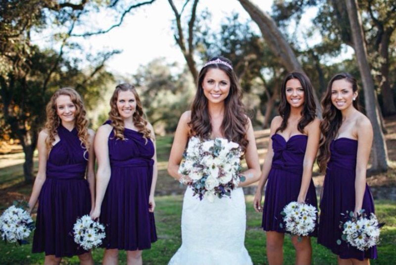فستان إشبينة العروس ، أزرق ليلي ، قصير ، متعدد الاتجاهات ، إنفينيتي ، ملتوي ، غير متماثل ، كتف عاري ، نمط