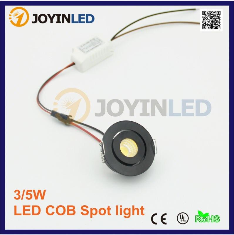 3W AC85-260V viviendo micro pequeño techo blanco miniatura spot mini mazorca LED downlight 3W down light