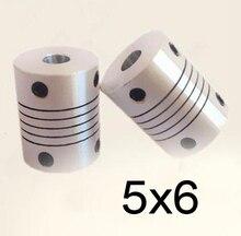 30 teile/los 5x6 CNC Motor Jaw Wellenkupplungen 5mm bis 6mm 5 zu 6 Flexible Kupplung 18mm OD 25mm länge (D18 L25)