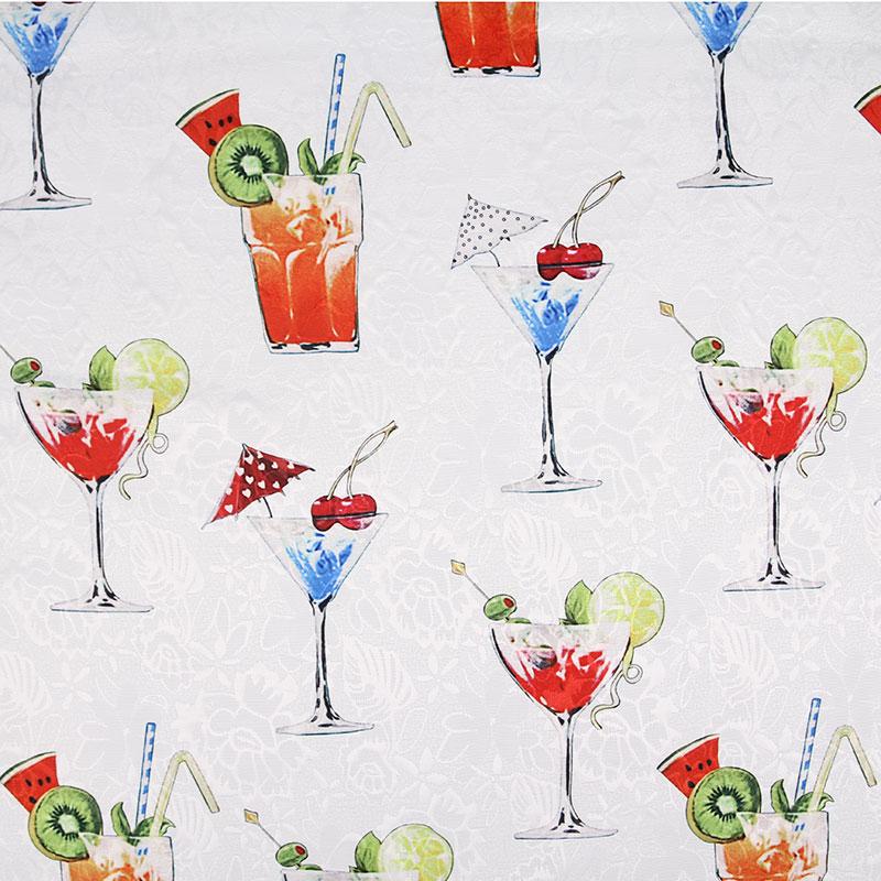 Diseño de copa de vino tela vintage estilo Retro tela estampado de Calicó tela de algodón para bolsa DIY 1 orden = 50cm * 140cm