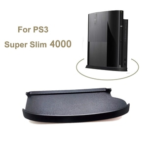 Skid Proof Console Vertical Stand For Sony Playstation Super Slim 4000 Console Game Stand Holder Plastic Base For PS3 Slim 4000