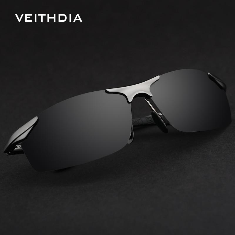 VEITHDIA Brand Aluminum Polarized Sunglasses Sports Men Sun Glasses Driving Glasses Goggle Eyewear Male Accessories shades 6529