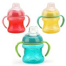Tasse eau pour bébé poignée bouteille   280ml bébé tasse eau pour bébé, boire bouteille alimentation, entraînement enfants paille, mamadeira enfants apprendre