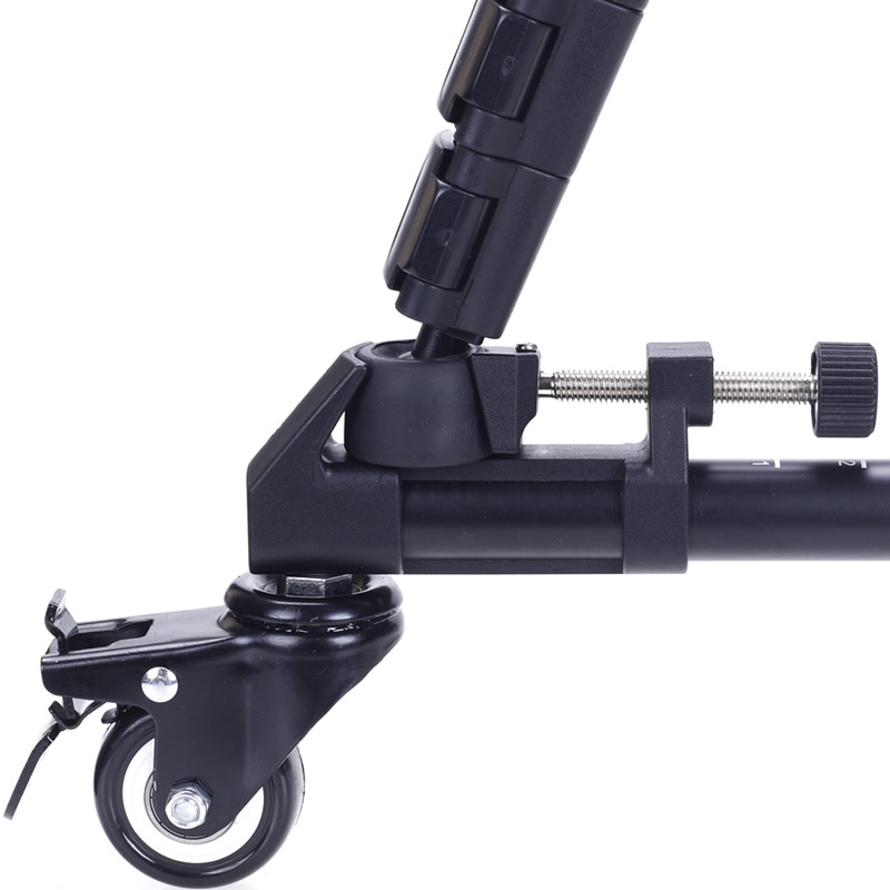 YUNTENG YT-900 Universal movement track tripod casters pulley camera tripod roller  YT 900Lighting Lockable 3 Wheels enlarge