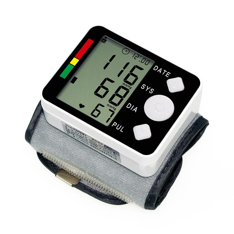 Monitor Digital automático de presión arterial para muñeca, medidor de presión arterial, medidor de presión arterial, Monitor de salud, esfigmomanómetro