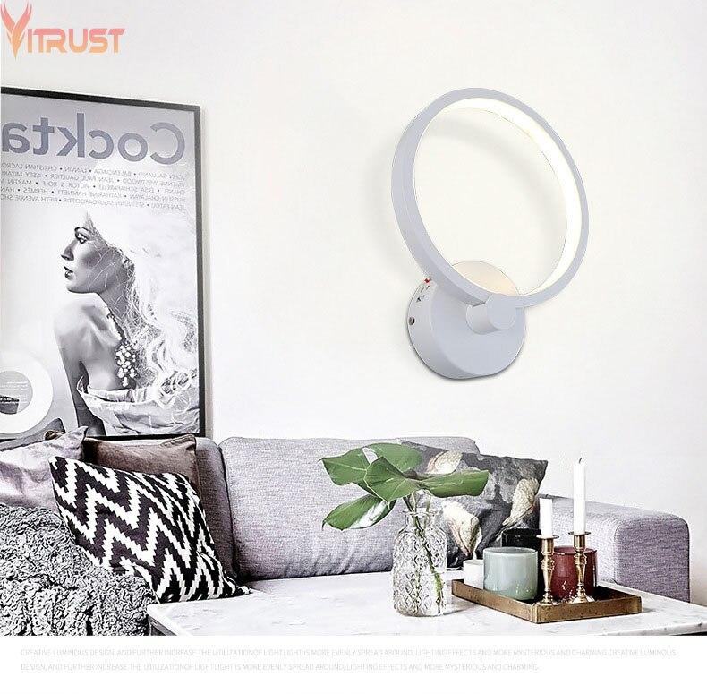 Vitrost-Lámpara de pared LED moderna, apliques de iluminación para mesita de noche,...