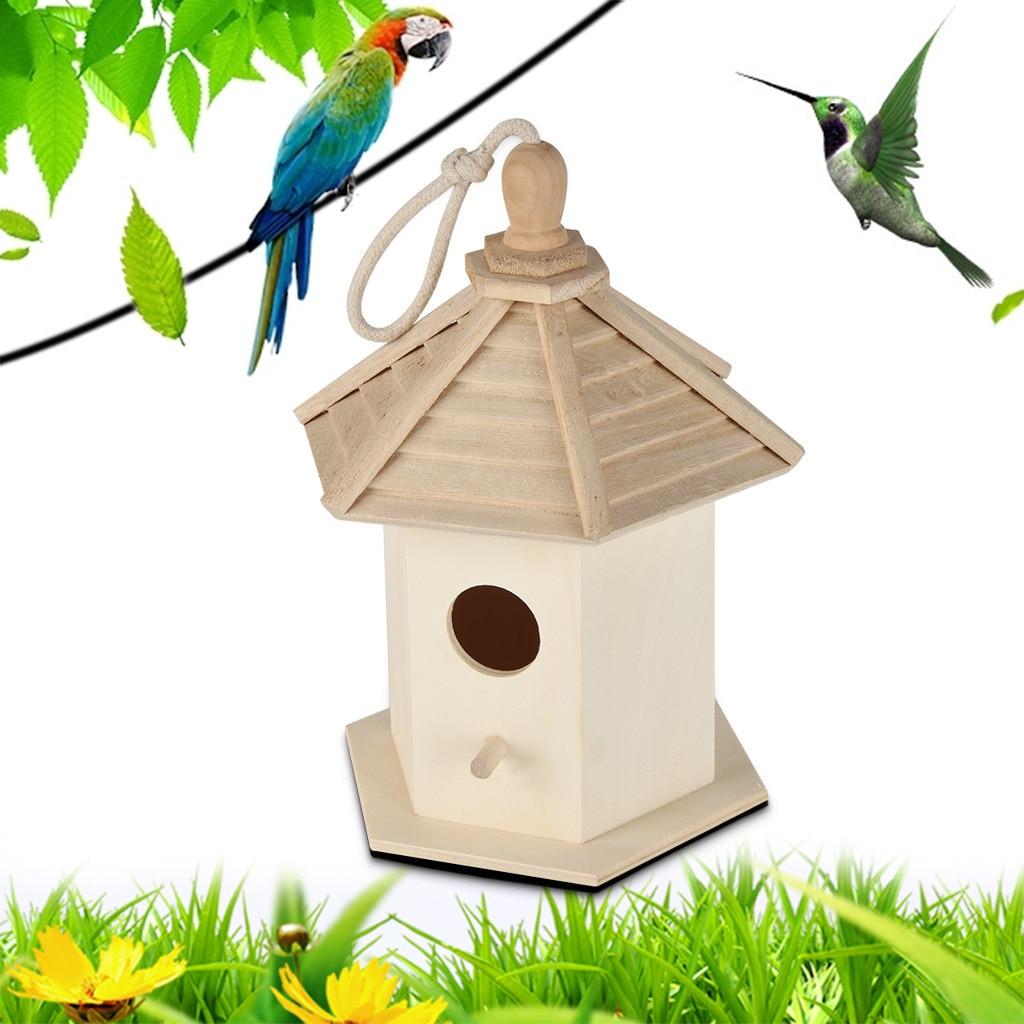 Gran nido Dox nido casa pájaro caja de madera productos para mascotas suministros