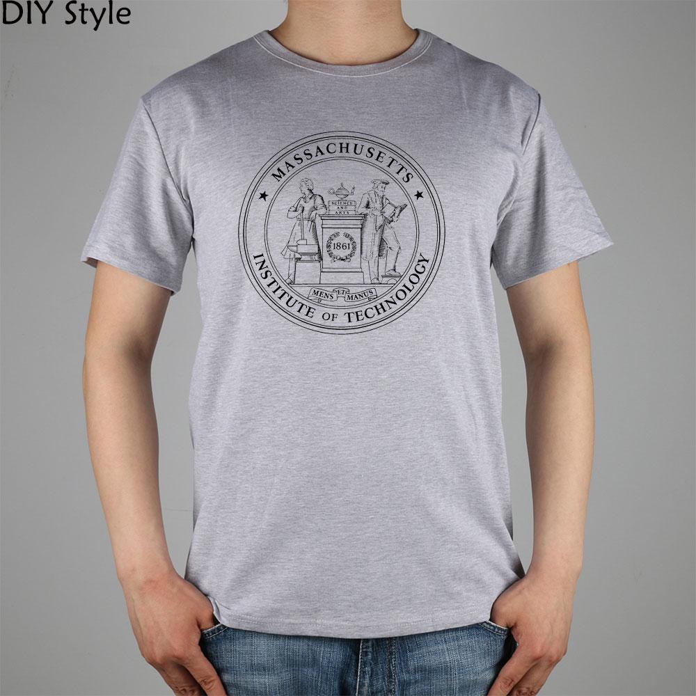 MASSACHUSETTS institut de technologie 1861 PUO joint MIT T-shirt haut Lycra coton hommes T-shirt nouveau bricolage Style