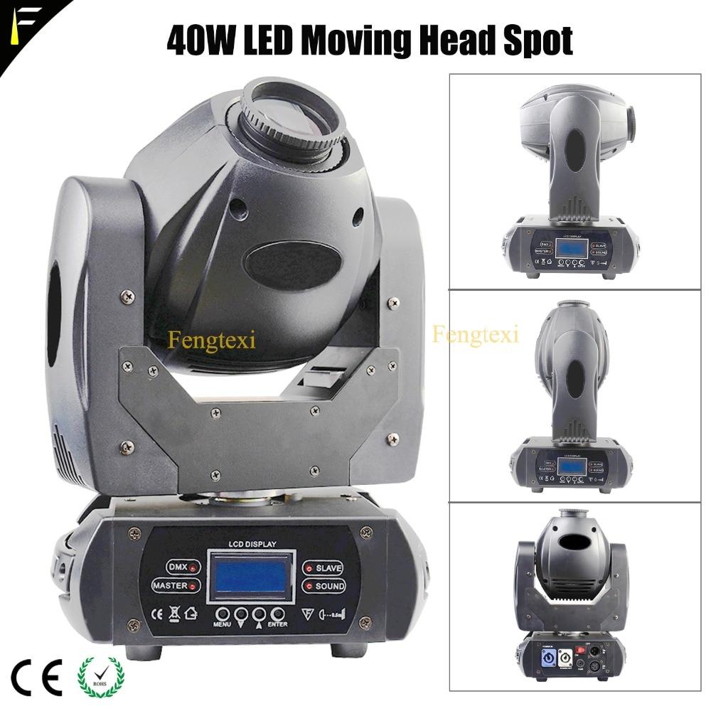 DMX512, 40 W, Color blanco, LED, foco de cabeza móvil, 9 colores, con efecto arcoiris, fiesta, KTV, Club nocturno, foco móvil
