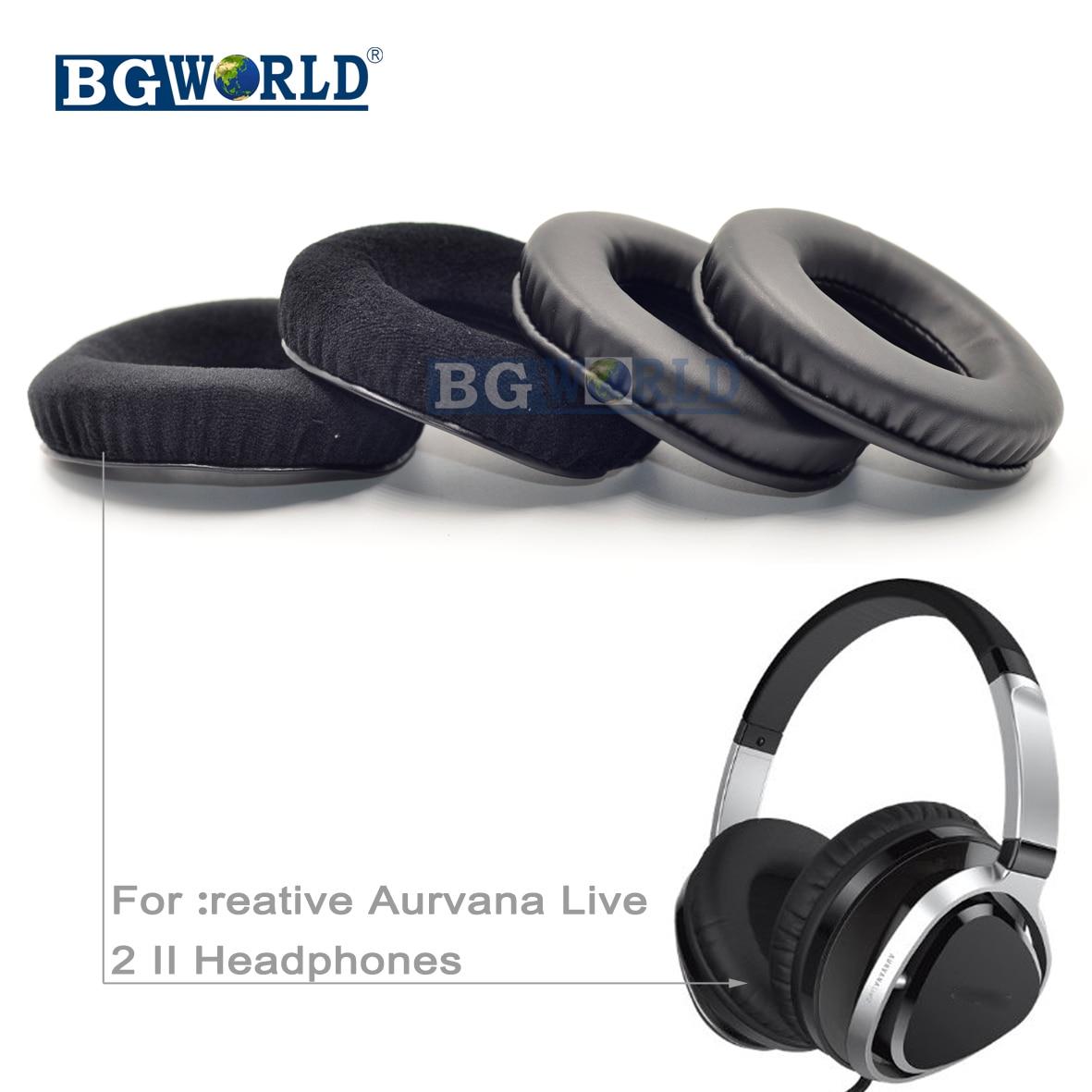 BGWORLD ew almohadillas negras para los oídos orejera de espuma almohada creativa Aurvana Live 2 II pieza de esponja de auriculares
