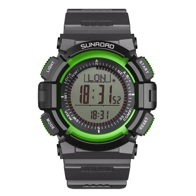 SUNROAD-relojes digitales deportivos para hombre, con brújula, barómetro, altímetro, podómetro, verde, de...