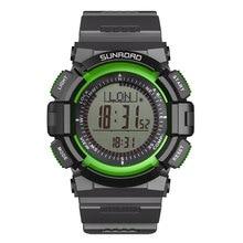 SUNROAD Men's Sports Digital Watches-Compass Barometer Altimeter Pedometer Green Clock Relogio Digit