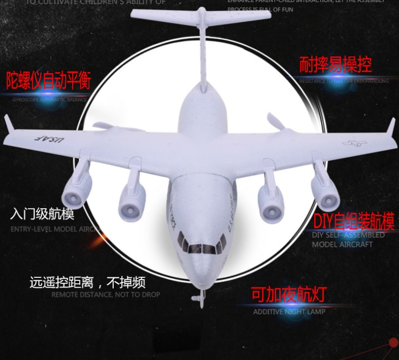 Newest Beginner Remote Control RC Glider 2.4G Fixed Wing EPP Material Transport Machine With Gyroscope Kids Sky RC Electric Toy enlarge