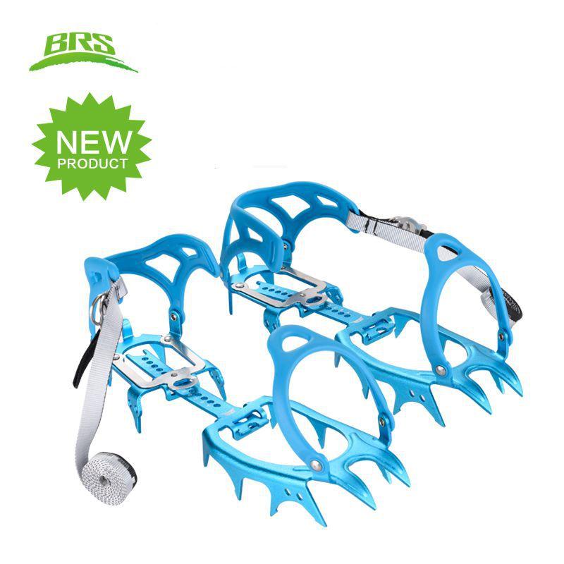 BRS-سرج الجليد من سبائك الألومنيوم خفيف الوزن ، أربعة عشر سنًا ، مشبك ثلج ، تسلق ، مقاومة للانزلاق ، الارتفاع العالي