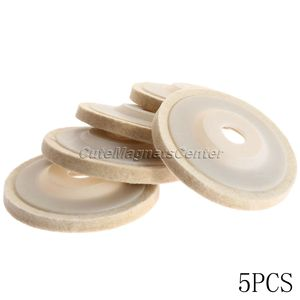 Image 2 - 5 шт. 4 дюйма 100 мм шерстяные полировальные диски, полировальные диски, угловая шлифовальная машина, войлочный полировальный диск для металла, мрамора, стекла, керамики