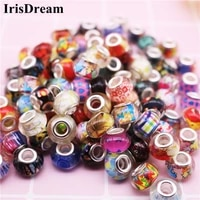 10pcs 14mm big round loose resin murano glass spacer beads charms fit for pandora bracelet oysters with pearls jewelry