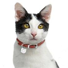 Anti-perdido cabeza de gato adorable forma de etiqueta de identificación de mascotas gato ID etiquetas de nombres Collar colgantes Accesorios