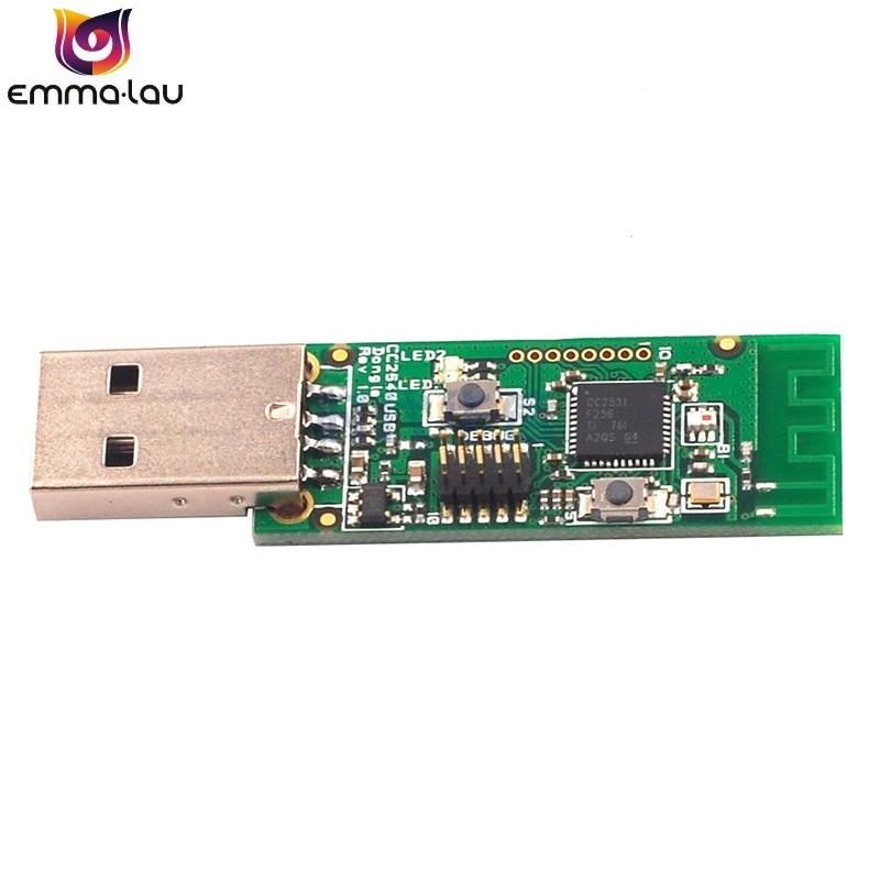 Inalámbrico Original Zigbee CC2531 Sniffer placa de circuito impreso paquete Analizador de Protocolo de módulo de puerto serie USB Dongle captura paquete