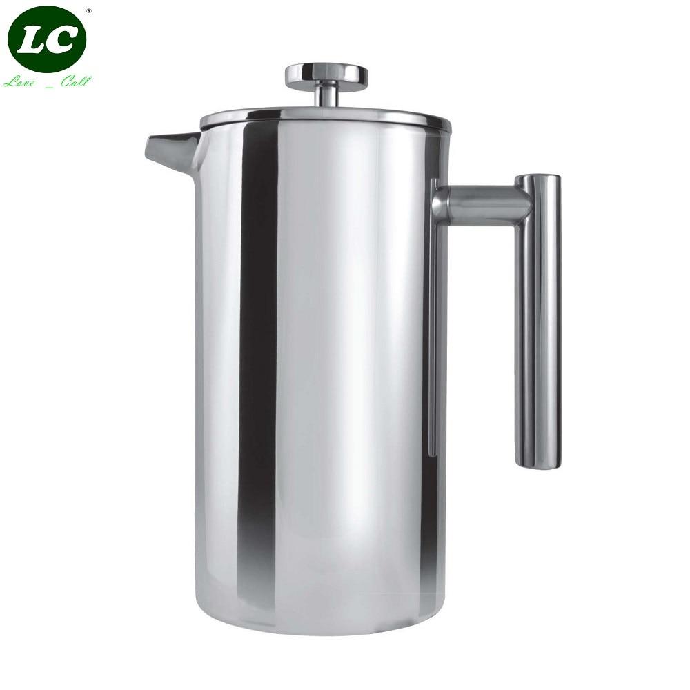 وعاء قهوة كافيه آنسة 3 كأس مزدوج صانع القهوة كافيتيري المسورة مباشرة الوجهين مرآة 350 ملليلتر/800 ملليلتر/1000 ملليلتر اليدوي