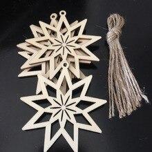 Décoration darbre de noël   Cadeau de noël, ornements en bois découpés au Laser pour noël