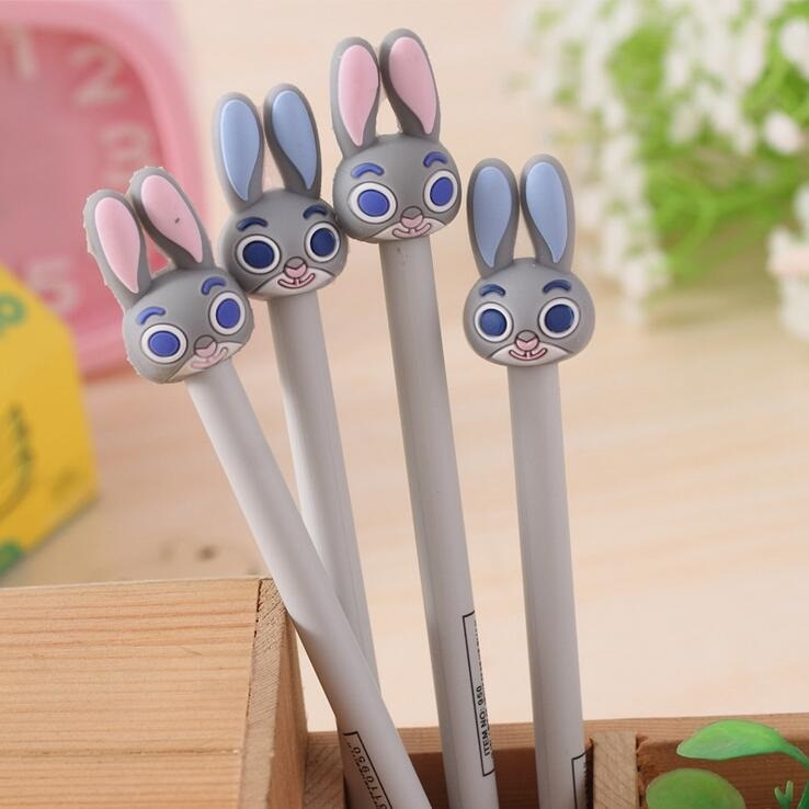 24pcs/lot Cute Rabbit design gel pen 0.38mm black ink students' prize gift office school supplies  wholesale
