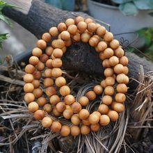 6mm / 8mm / 10mm / 12mm Natural Aromatic Sandalwood Thuja Sutchuenensis Beads 108 Mala Beads Buddhism Prayer Loose Mala Beads