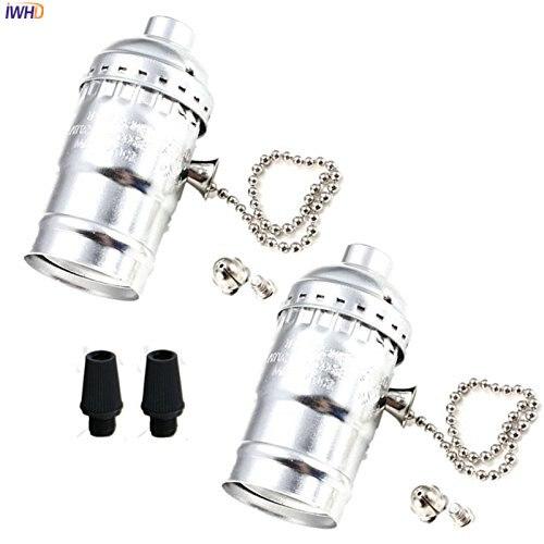 IWHD estilo Industrial E27 portalámparas E27 Base LED Vintage, portalámparas para Loft E27 Homekit, lámpara, Casquillo, Bombilla