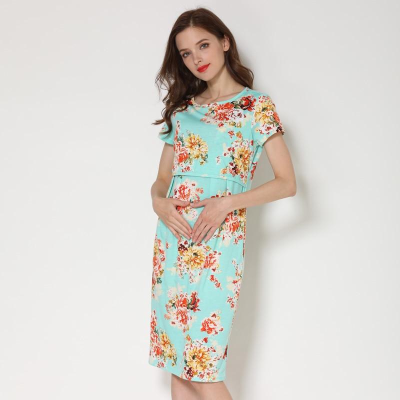 Emotion Moms Summer Casual Maternity Breastfeeding Dress Women Pregnancy Clothing Nursing Lactation Wear Drop Shipping enlarge