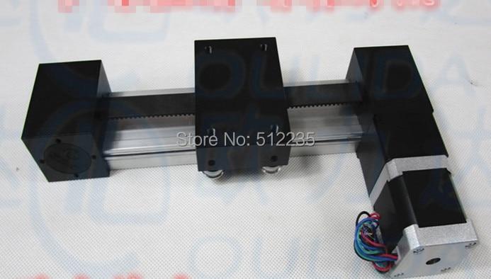 XP 57*56-1000mm timing belt slide module Sliding Table effective stroke 1000mm+1pc nema 23 stepper motor  XYZ axis Linear motion