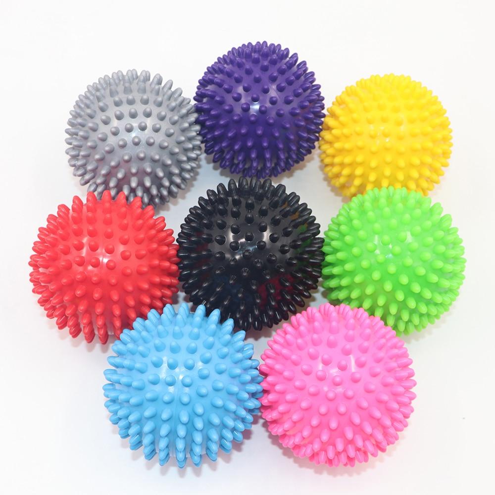 7,5 CM/9CM 8 colores PVC bolas de masaje pelotas de Fitness músculo Relax aparato gatillo punto Fitness equipo bolas mano pie relajarse
