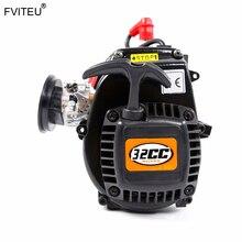 FVITEU 32cc 4 boulons moteur Set avec bougie dallumage chinoise et carburateur pour 1/5 losi 5ive-t rovan LT kingmotor X2
