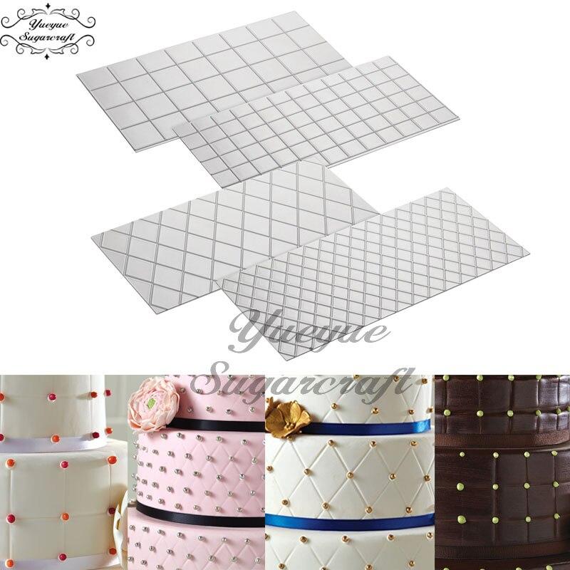 Yueyue Sugarcraft przezroczyste tekstury Mat ciasto granicy dekorowanie narzędzia ciasto formy