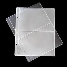 10 PCS/Lot 2 lignes/Page PVC à lintérieur de la page de billets de banque collection de pièces de monnaie en papier album Inners de feuilles mobiles de porte-monnaie en papier