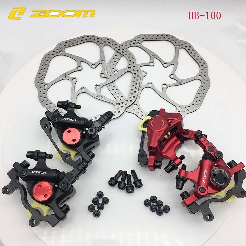 Zoom HB-100 MTB bike Brake HB100 Bicycle electric bike Brakes Caliper with rotors Bicycle parts Hydraulic piston two-way brake