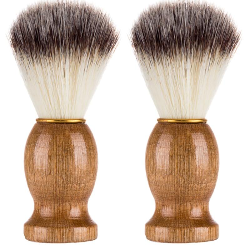 2020 Badger Hair Men's Shaving Brush Barber Salon Men Facial Beard Cleaning Appliance Shave Tool Raz