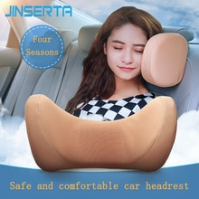 JINSERTA U Shaped Car Seat Back Neck Pillow Memory Foam Headrest Travel Pillow Health Care Head Supp