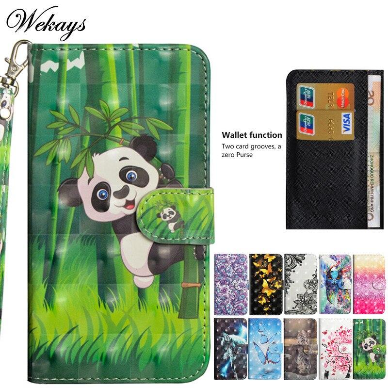 Wekays para Huawei Y6 Pro 2017 caso Panda de dibujos animados de cuero Fundas funda para Huawei P9 Lite Mini SLA-L02 SLA-L22 SLA-L03 casos de la cubierta