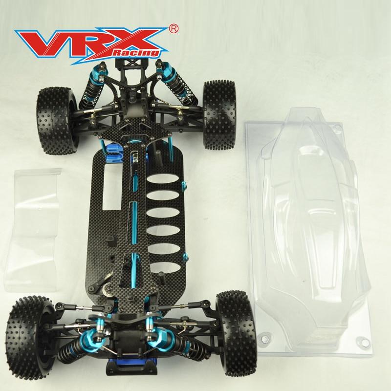 Carrera vrx 1/10 báscula SPIRIT PRO Buggy Roller kit versión sin electrónica, con cuerpo transparente
