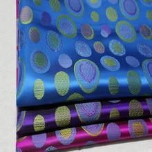 Qipao-tissu en soie pour femmes   CF382 1 cour 3 couleurs, Brocade, tissu chinois Jacquard, tissu pour mariage chinois